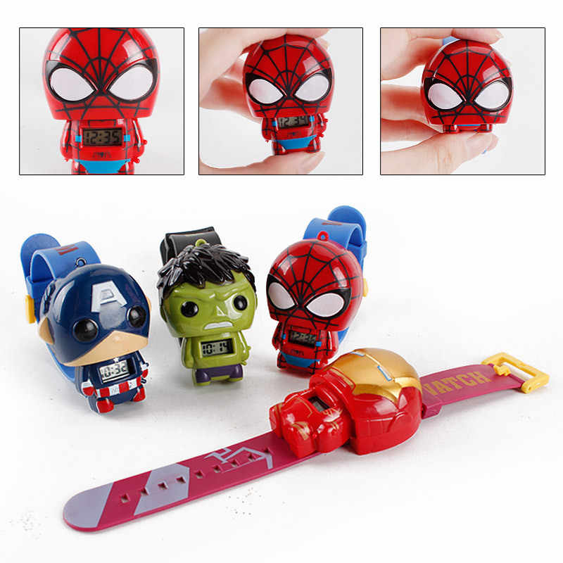 ZWX035 Keajaiban Avengers End Game Elektronik Super Hero Hulk Iron Man Tim Amerika Spiderman Model Anak Mainan Hadiah
