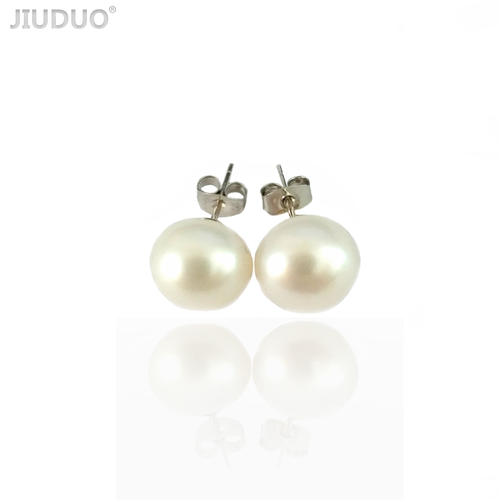 Simple silver earrings for women Natural pearls earrings of fashion woman Costume jewelery earring with pearls and Silver 925