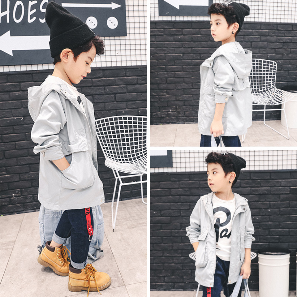 2018 New Fashion Children Trench Coats Casual Girls Boys Jacket Spring Kids Clothes Windproof Kids Autumn Soft Jackets Costume