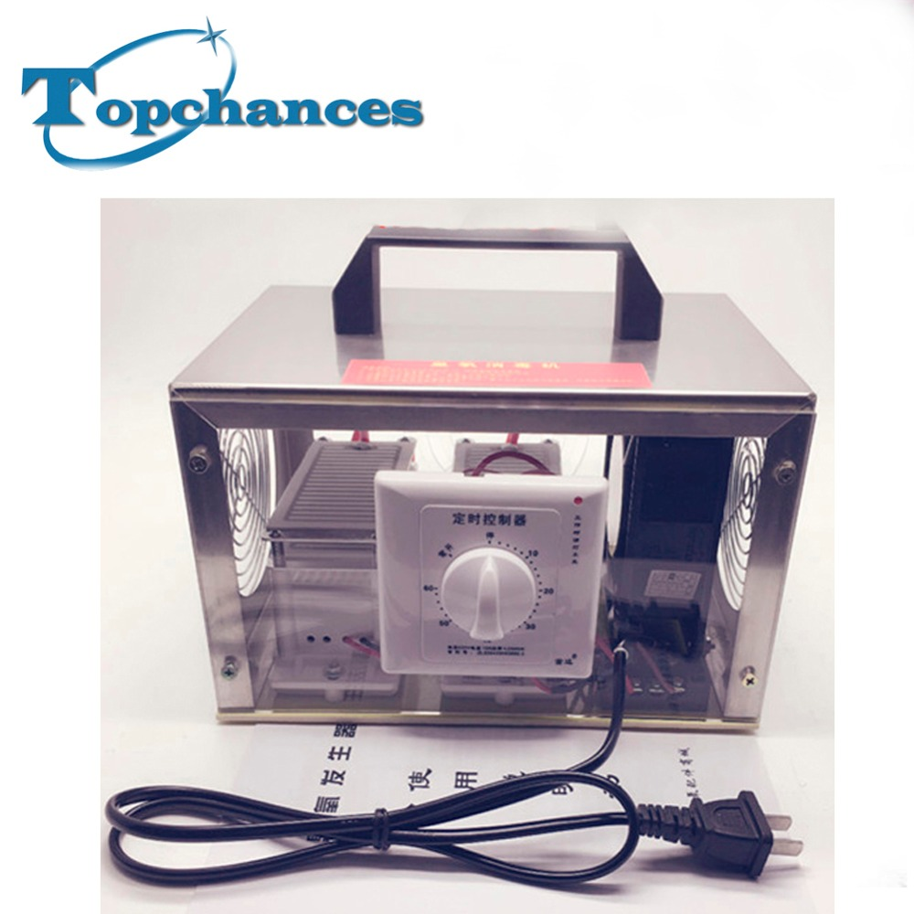 Di alta Qualità Nuovissima 220 V Depuratori D'aria Generatore di Ozono 20 g/h Ozonizzatore Portatile Ozonizzatore Con Interruttore di Temporizzazione