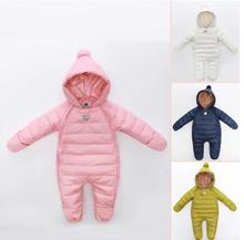 Russia Winter  New Baby Down Romper  Boys Girls  Duck Down Jumpsuit kids  Children Down Outerwear  Infant  Thick Snowsuit Coat