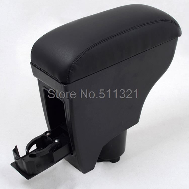 Fit For Toyota Vitz Yaris Belta 2005 2011 Second Generation Black Leather Console Armrest Box 1PC