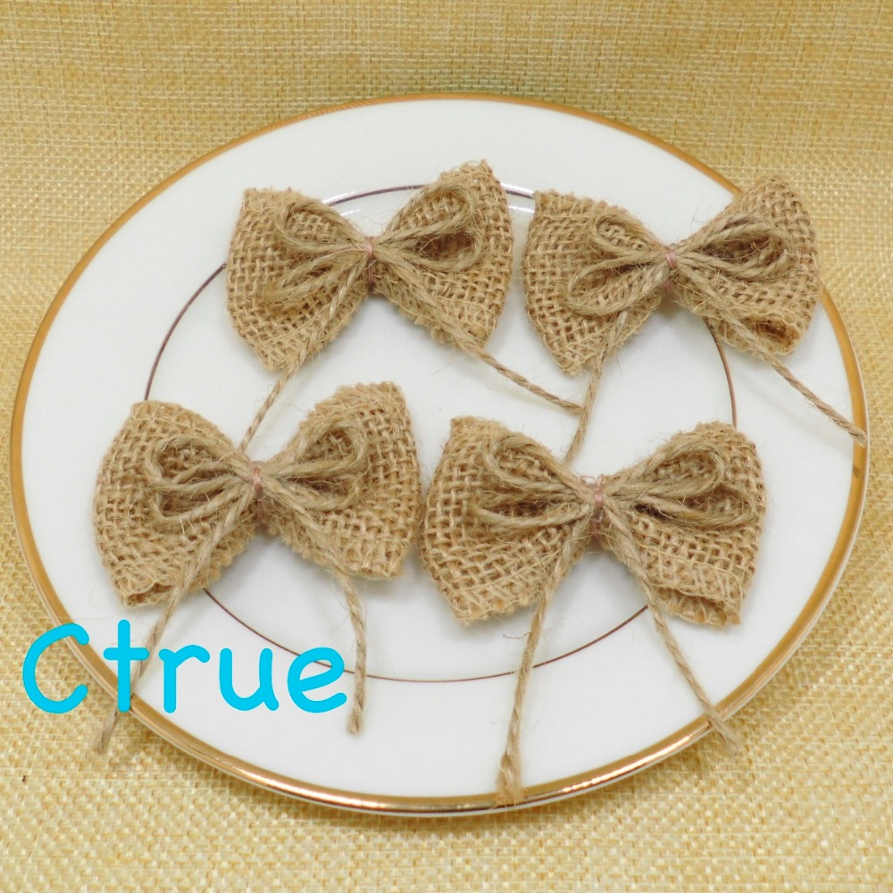 24pcs natural jute burlap hessian bowknot bows hat accessories 24pcs natural jute burlap hessian bowknot bows hat accessories craft rustic wedding decoration supplier diy craft decor in party diy decorations from home junglespirit Image collections
