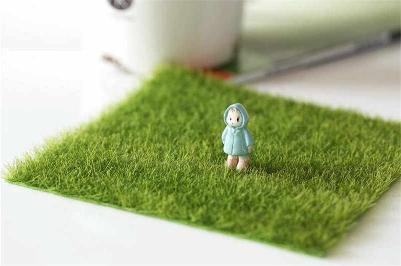 New Arrival Artificial moss false moss ecological bottle decoration lawn moss fairy garden home decoration accessories 15x15cm