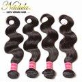 Nadula produtos para o cabelo Brasileiro da onda do corpo, 4 pcs lot Brasileiro virgem do cabelo da qualidade superior Brasileiro do cabelo humano tecer ofertas bundle