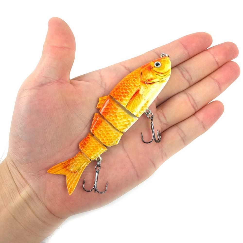 1 Uds Mini señuelo de pesca Minnow Swimbait Bass señuelo Artificial señuelo de peces Crankbait Multi articulado cebo wobbler