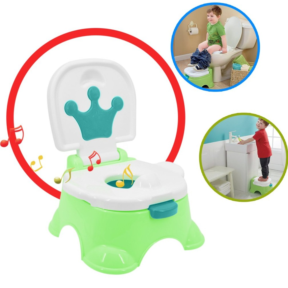 Portable Baby Good Partners Safety Boy Girls Stepstool Potty Toilet Learning Trainer Music Pottery Comfortable Seat partners