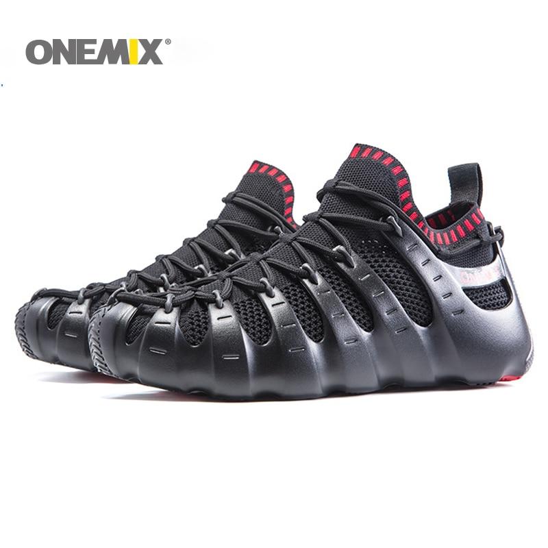 Conjunto Onemix sapatos Roma gladiador shoes men & women running shoes tênis de corrida sapatos de caminhada ao ar livre sandálias meia-like chinelo