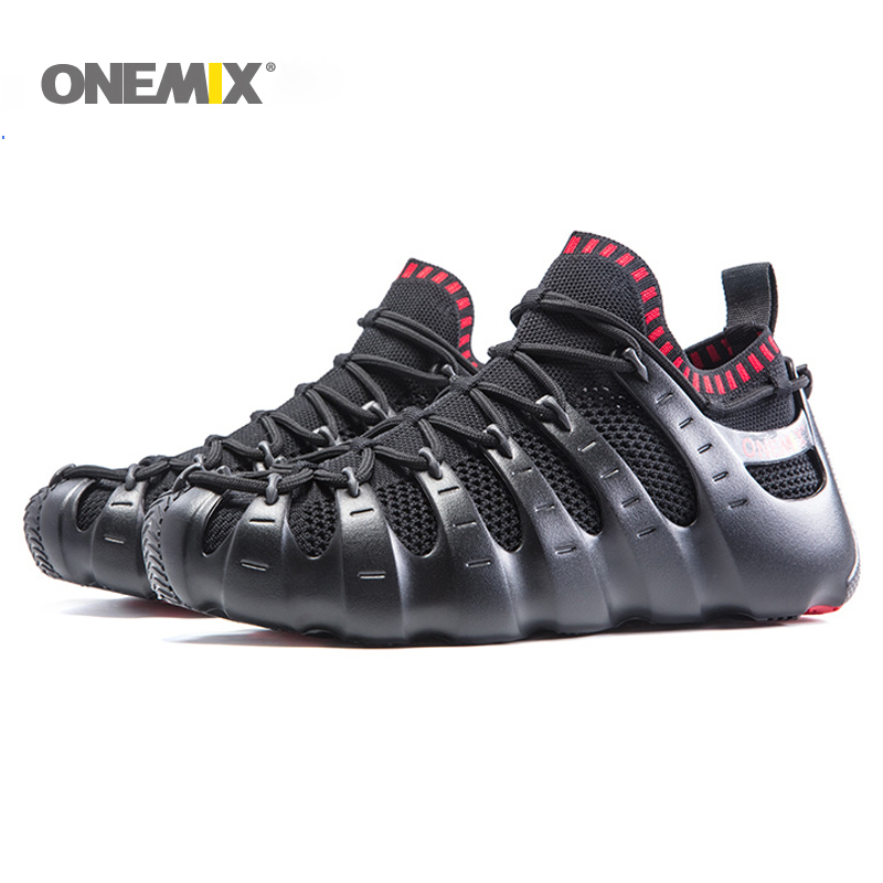 e39cee1e0 Onemix Rome shoes gladiator set shoes men   women running shoes jogging  sneakers outdoor walking shoes sock-like sandals slipper