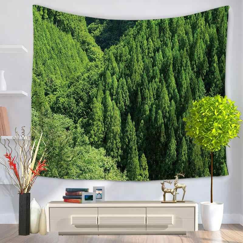 KYYZROZZZ グリーン植物タペストリー壁タペストリー自由奔放に生きるベッドカバービーチタオルヨガマット毛布テーブルクロス 200*150/ 150 * 130c