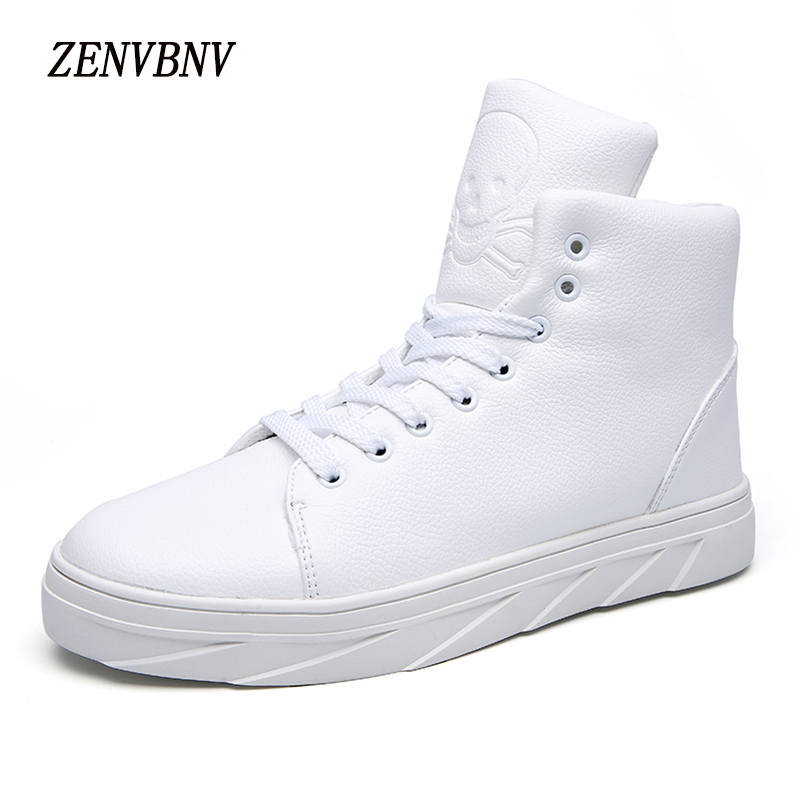 ZENVBNV 2017 High Quality Winter Men's Casual Shoes Fashion Genuine Cow Leather Boots Men High Tops Lace Up Plus Size 39-46 buvazik 2017 big size 46 47 casual shoes men cow leather high quality fashion lace up flats male genuine leather comfortable