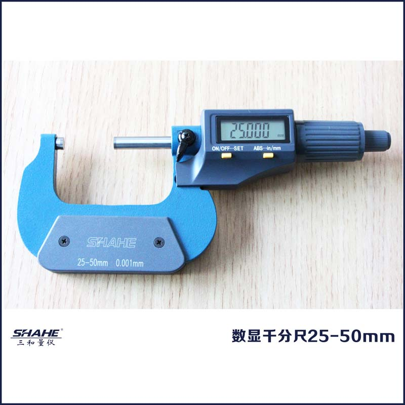 ФОТО Digital Microcaliper Micrometer Caliper shahe measuring instrument electronic 25-50mm micrometer