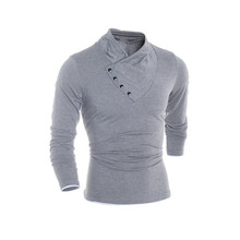 Men Long Sleeve T -Shirt 2018 Autumn Fashion Brand Man Solid Shirt Elastic Top Male Flexible Sportswear Tops