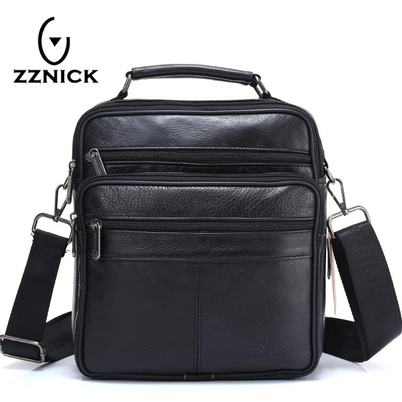 ZZNICK 2018 Men Bags Ipad Handbags Sheepskin Leather Male Messenger Purse Man Crossbody Shoulder Bag Men's Travel Bags 7101black zznick 2017 genuine leather bag men crossbody bags fashion men s messenger leather shoulder bags handbags small travel male bag
