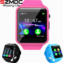 Купить с кэшбэком SZMDC child A1 Smart Watch With Passometer Camera SIM Card Call Smartwatch For Xiaomi Huawei HTC Android Phone Better Than DZ09