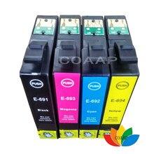 Encre T069 T0691-T0694 pour Epson Stylus CX7000F CX7450 CX8400 NX110 NX200 NX300, 4PK Compatible