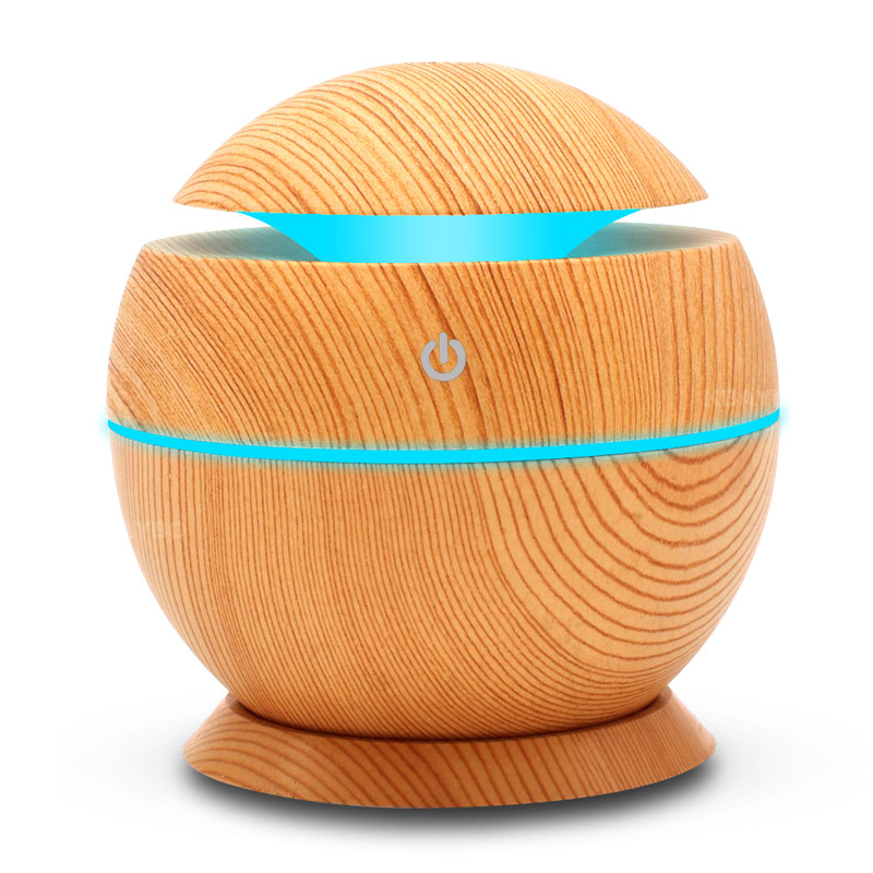 130ML USB Aromatherapy Essential Oil Diffuser Car Portable Mini Ultrasonic Cool Mist Aroma Air Humidifier For Home office thankshar usb lemon aroma diffuser umidificador aromatherapy for car essential oil diffuse portable mini humidifier for home