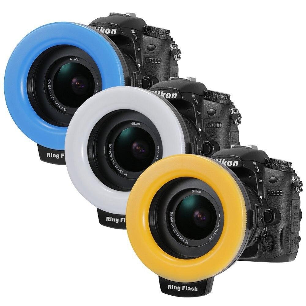 1 pièce RF-550D 48 pièces LED Macro anneau Flash Speedlite lumière avec 8 bague d'adaptation pour Canon Nikon Pentax Olympus appareil photo Fujifilm