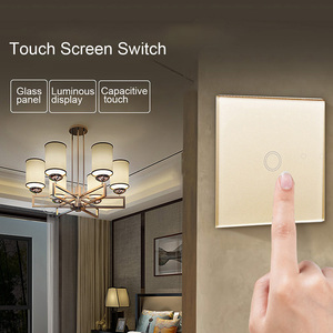 Image 5 - Hoomall EU Stanard Touch Switch White Crystal Glass Panel 1 Gang 1 Way Touch Switch, EU Light Wall Touch Screen Switch AC 220V