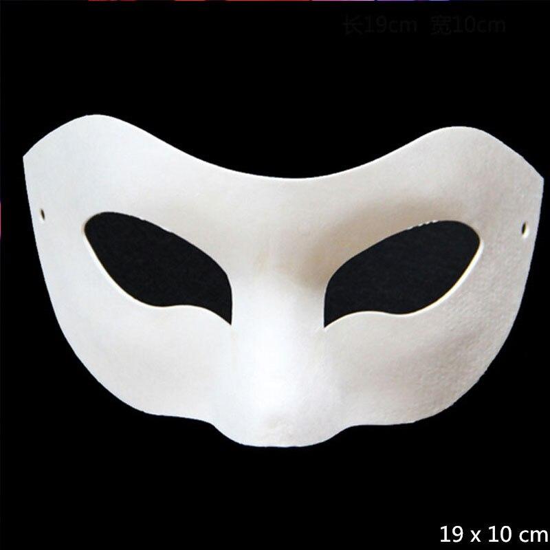 ᐅDIY papel blanco sin pintar máscara veneciana para hombres mujeres ...