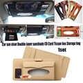 1 zestaw PU skóra pole tkanki samochód uchwyt na serwetka papier CD posiadacz karty torba samochodów osłona przeciwsłoneczna dla Audi skoda honda benz bmw KIA.
