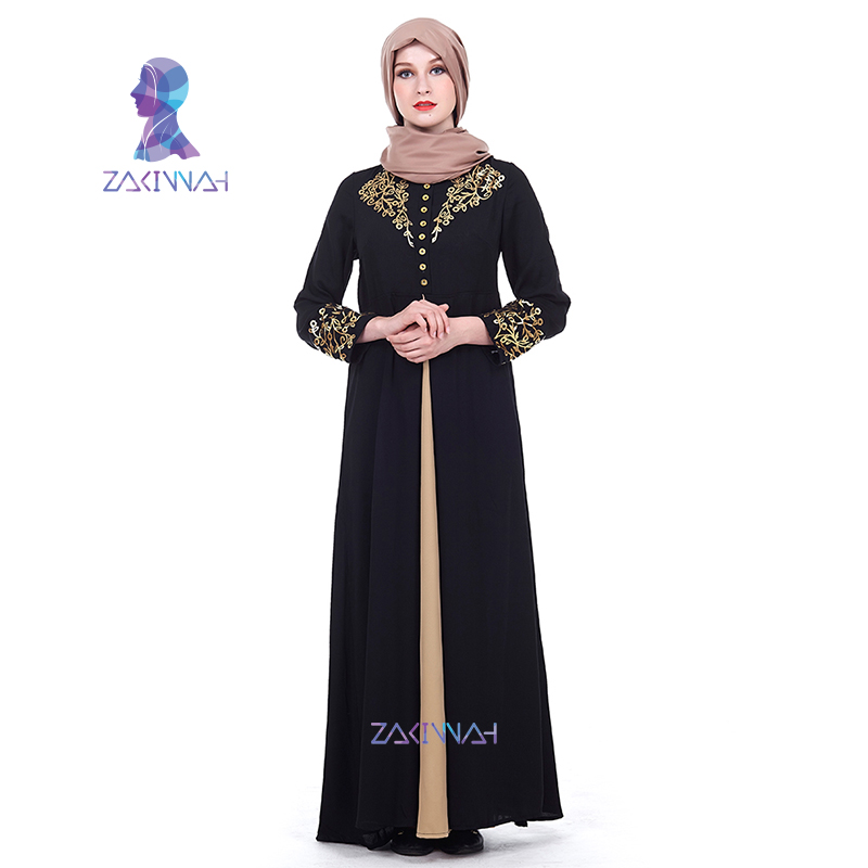 a48de570bf New Fashion Muslim Abaya Arab Cardigan Print Robe Long Dress - Sabas ...