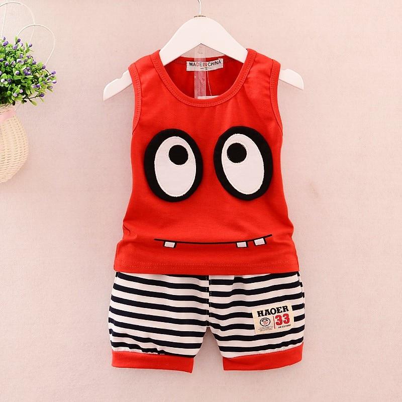 2016-Children-s-Wear-Summer-baby-boys-Clothing-set-Big-Eyes-Vest-shorts-Sports-Suit-kid (4)
