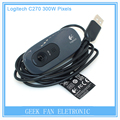 For 3D Ciclop Scanner Parts Logitech C270 HD Vid 720P Webcam Mini Camera With MIC Micphone Video Calling For Android TV