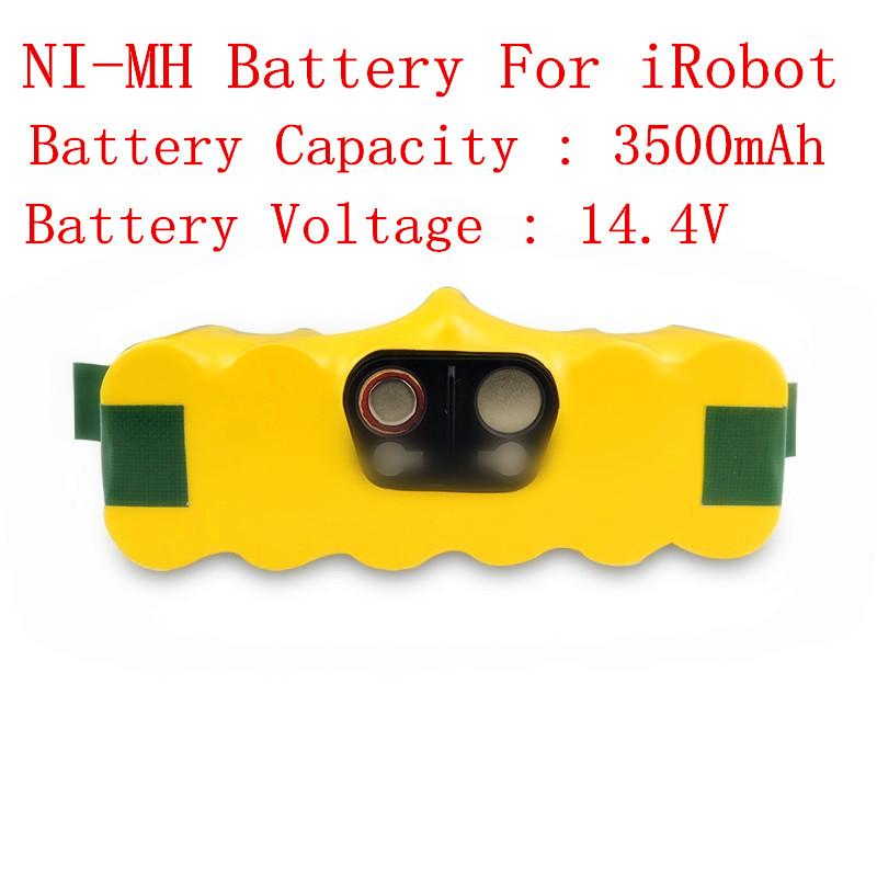 NEW! 14.4V 3500mAh Ni-MH Rechargeable Battery Packs  for iRobot Roomba 500 series and 600series and 700 series 2x 12v 3 0ah ni mh rechargeable tools battery for hitachi eb1220hl eb1226hl eb1230hl eb1230x 322629 323226 324279 324360