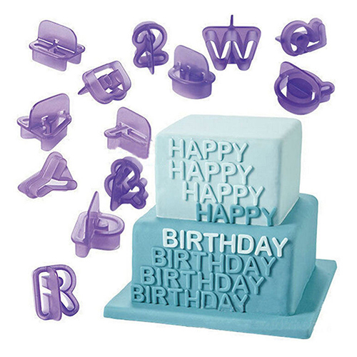 40 Pcs Icing Cutter  Alphabet Letter Fondant Cake DIY Decorating Mould Set