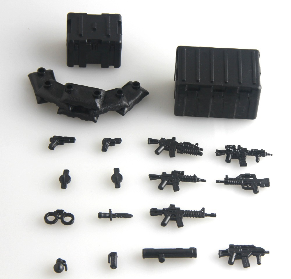 2017 new Military Series swat police 95 GUN weapons pack army weapon Brick Arms Weapon Pack For City Police Compatible With Lego