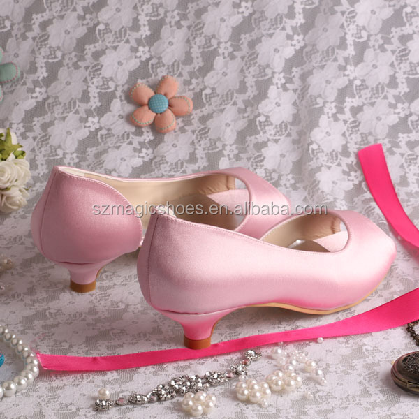 Wedopus MW772 Custom Handmade Ladies Pink Low Heel Weddings Shoes  Bridesmaid Pumps-in Women s Pumps from Shoes on Aliexpress.com  9c8db9d2d43a