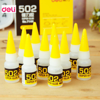 Deli 1Pcs Instant Quick-drying Cyanoacrylate Adhesive Strong Bond Fast Leather Rubber Metal 8g Office Supplies  502 Super Glue