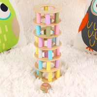 36pcs Wooden Building Blocks Oyuncak Palace Pile Of Tower Toys For Children Learning Educational Game