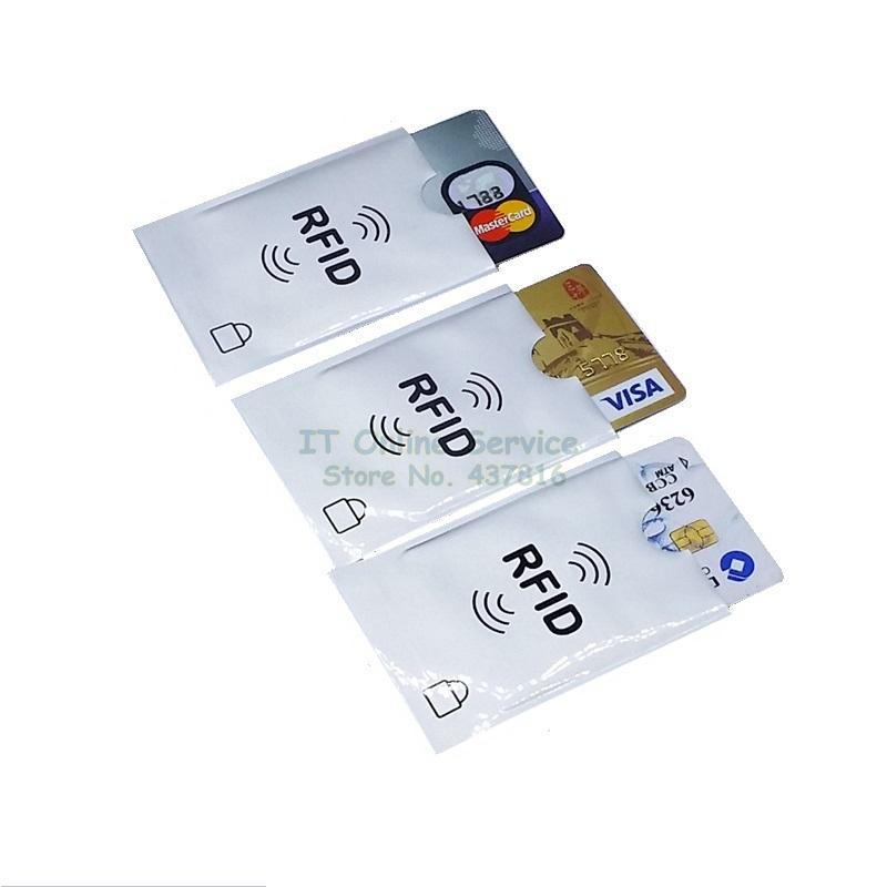 2PCS lot RFID Protection Sheath IC Card Shielded Sleeve NFC security card Storage Home Office Storage