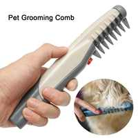 Electric Pet Dog Grooming Comb Cat Hair Trimmer Knot Out Remove Mats Tangles Tool Supplies Grooming Cat Brush For Dogs