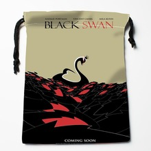 Custom Black Swan Drawstring Bags Custom Storage Bags Storage Printed gift bags More Size 27x35cm Compression Type Bags