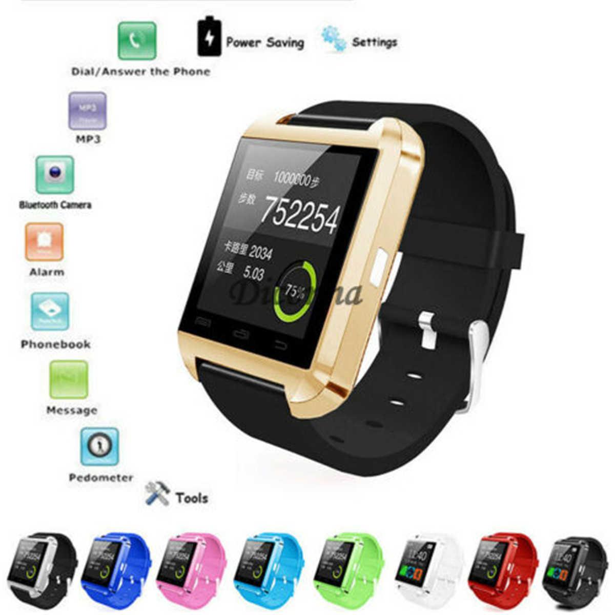 U8 חכם שעון Bluetooth טלפון Mate עבור אנדרואיד IOS iPhone סמסונג LG HTC יוניסקס