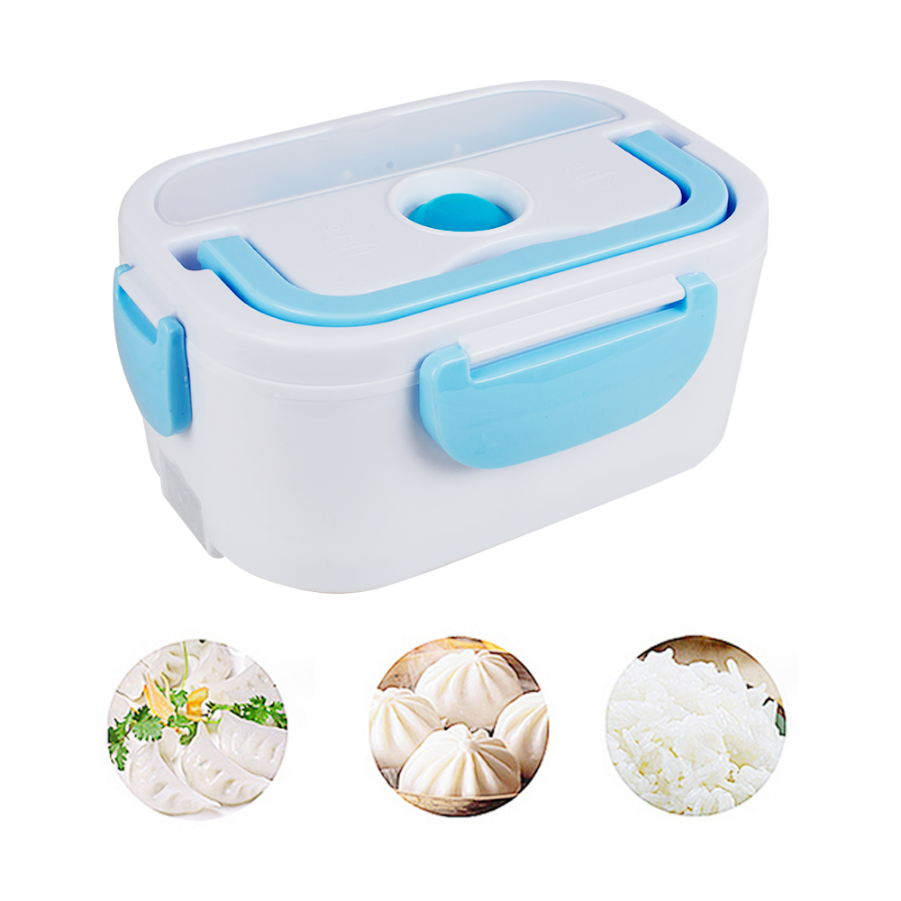 110V/220V AC Electric Portable Heated Lunch Food-grade Food Container Set Food Warmer Bento With For kids School Box EU Plug#* lazylife 18l top quality fashion portable insulated lunch bag thermal food picnic lunch bags for women kids men cooler lunch box