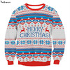 New Winter Kawaii Men Santa Xmas Christmas Novelty Fairisle Retro Jumper Sweater Blusas Blusa
