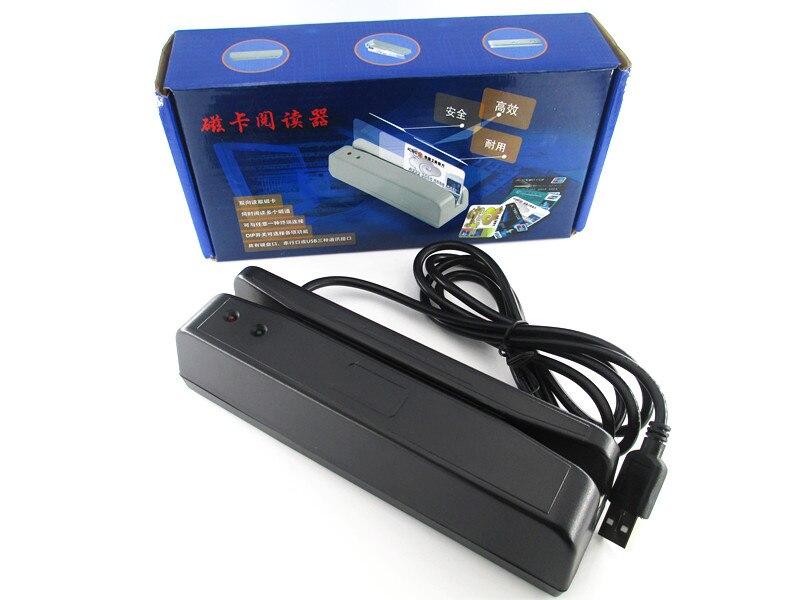 Lector de código de barras de la tarjeta magnética Universal del USB raya pista bidireccional 2 lector de tarjetas 1 2 colores blancos negros de la pista