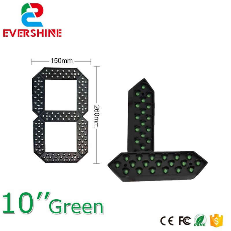 10 Green Color Module 7 Segment LED Display LED Number Module Gas/Oil/Petrol Station Price LED Signs bonatech 8 digit led seven segment display module deep blue