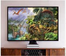 High Quality Hot Sale New Custom 3d photo wallpaper murals FFantasy dinosaur dragon children room painting virgin forest wall(China)