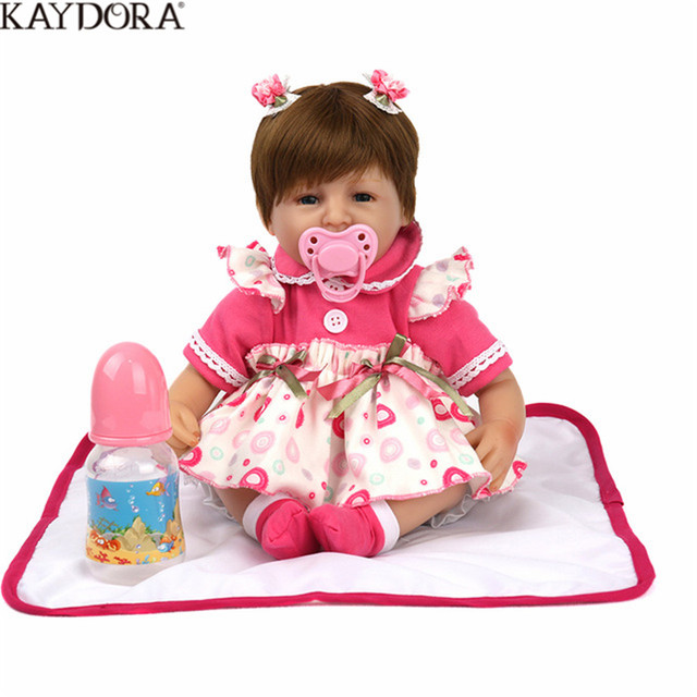 KAYDORA Realistic Baby Reborn Doll New Kids Growth Partners Silicone Lifelike Princess Dolls Lovely Gift Girls Brinquedos