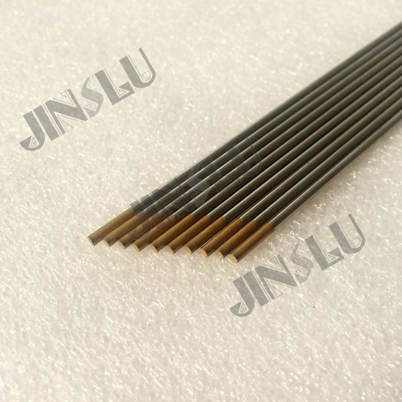 10 x 1.0mm Gold Tip Tig Tungstens