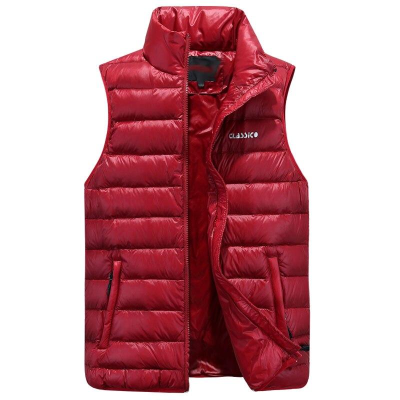 2017 Herbst Winter Warme Männer Daunenweste Dünne Beiläufige Kragen Weste Männlichen Jacke Weste Marke Kleidung Ärmel Stehen Kragen So Effektiv Wie Eine Fee