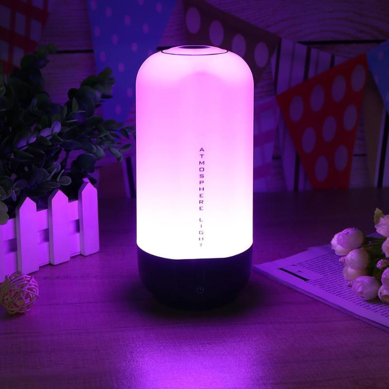 LED Table Lamp 5W Touch Sensor Control Dimmable RGB Color Change Rechargeable Smart Table Lamp Night Light lumiparty smart bedside lamp touch sensor led night light rgb dimmable atmosphere led lamp intelligent mood nightlight