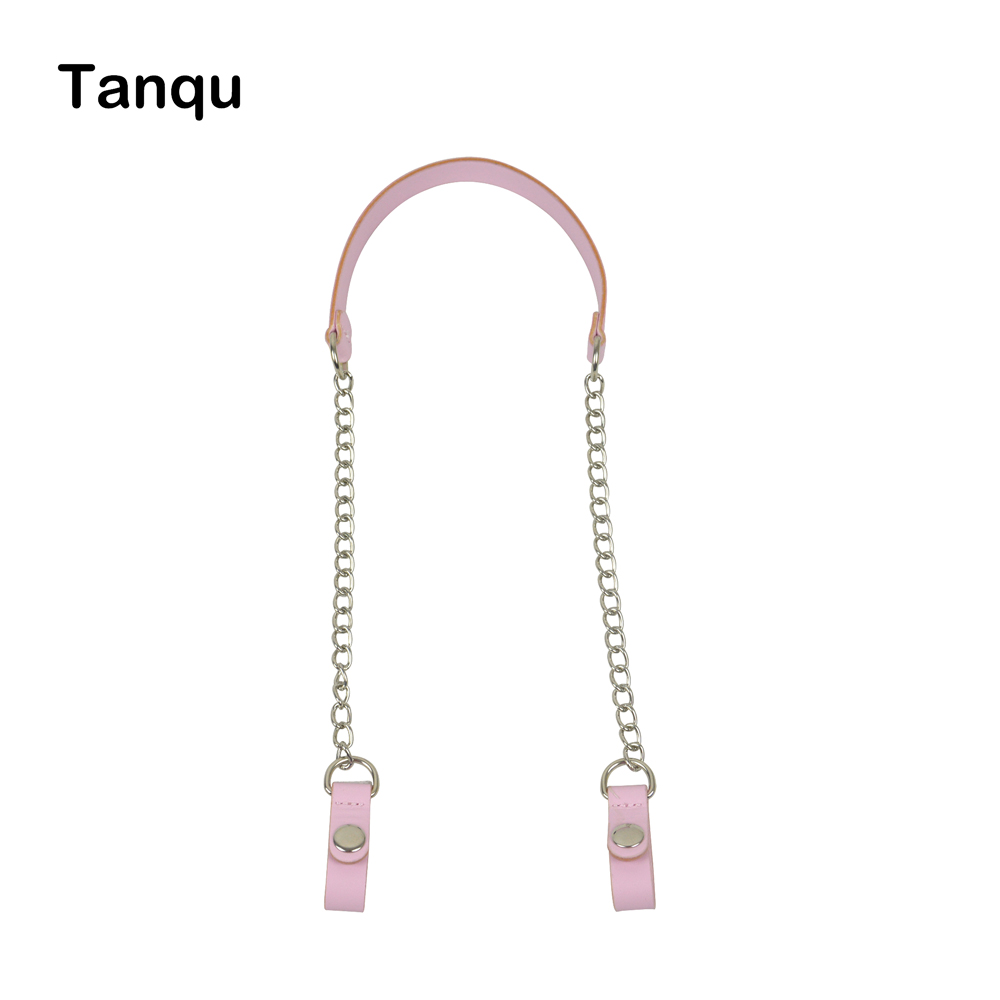 TANQU New Colorful Short Bag Handle Chain With Faux Leather Strap Clip Closure For OPocket Obag O Bag