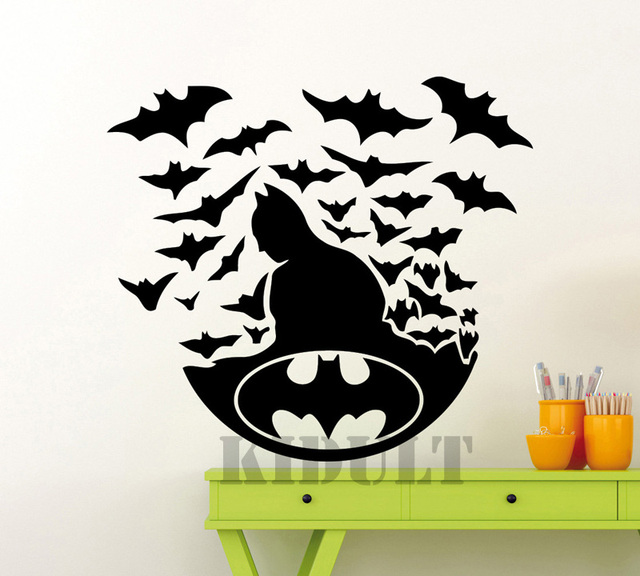 Aliexpresscom  Buy Wall Decals Batman Dark Knight DC Comics - Superhero vinyl wall decals