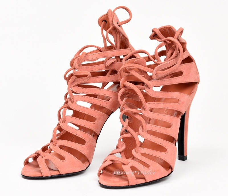 4cb2e453fc4b 2016 Newest kim kardashian inspired heels Shoes ss14 suede strappy sandals  Lace up woman shoes high heels sandalias scarpe donna-in Women s Sandals  from ...